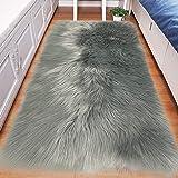 Faux schapenvacht tapijt pluizig tapijt, pluizig gebied kleine tapijten Shaggy tapijten voor slaapkamer tapijt pluizige bank