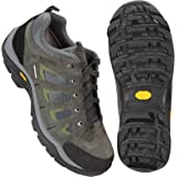 Mountain Warehouse Field Mens Waterproof Wide Fit Shoes - Vibram Sole Walking Shoes, Suede & Mesh Upper Hiking Shoes, Quick D