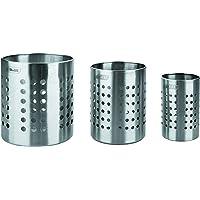 IBILI 708710 Porte Ustensiles de Cuisine, INOX, Argent, 12,49 x 10,21 x 10,21 cm