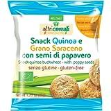Probios Snack Quinoa e Grano Saraceno, con Semi di Papavero - 35 gr, Senza glutine