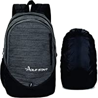 """Polestar Ranker 32 Liters Polyester Grey 15.6"""" Casual Travel Laptop Backpack with Rain Cover"""
