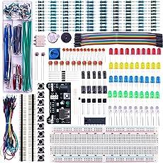 Elegoo ÜBERARBEITETES Elektronik Lernset Spaßset Stromversorgungsmodul Jumperkabel Potentiometer Breadboard Komponente für Arduino