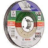 Bosch 2609256332 DIY doorslijpschijven metaal 115 mm ø x 2,5 mm gebogen, set van 5