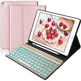 BORIYUAN Tastatur Hülle für iPad 2018 (6 Gen.), iPad 2017 (5 Gen.), iPad Air 2/1, iPad Pro 9.7 - Automatischer Schlaf…
