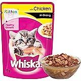 Whiskas Wet Meal Kitten Cat Food, Chicken in Gravy, 85 g