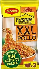 MAGGI FUSIAN Pasta Oriental Noodles Pollo con finas hierbas, Fideos Orientales, 185g