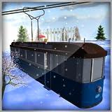 simulatore di tram: seggiovia trasportatore gioco sulla stazione sciistica di montagna