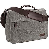Ruschen Umhängetasche Herren aus Canvas, Hochwertige Herrentasche, Laptoptasche für 15,6 Zoll Laptop, Schultertasche…