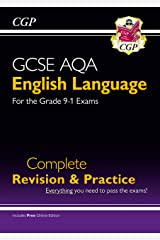 GCSE English Language AQA Complete Revision & Practice - Grade 9-1 Course (with Online Edition) (CGP GCSE English 9-1 Revision) Paperback