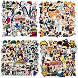 200pcs Anime Stickers, Mixed Naruto Autocollants Hunter x Hunter Autocollants My Hero Academia Autocollants Haikyuu Autocolla
