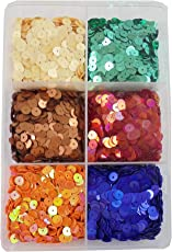 eshoppee Sequins Sitara, 150 gm Box,for Jewellery Making Embroidery Material Art and Craft DIY kit, Glitter Sequince Rhinestones Beads (Round Shape)