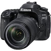 (Renewed) Canon EOS 80D 24.2MP Digital SLR Camera (Black) with EF-S 18-135mm f/3.5-5.6 Image Stabilization USM Lens Kit…
