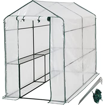 TecTake Serra da giardino in acciaio e PVC per piante - modelli differenti - (186x120x190cm   No. 401861)
