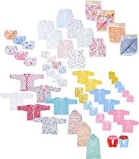 Baby Fly Newborn Baby Gift Set, 0-8 Months (Multicolour) - Pack of 10