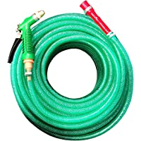 GARBNOIRE Heavy Duty 3 Layered Braided Water Hose Pipe (Size : 0.5 inch, Length : 10 Meters (33 Foot)) Garden, Car Wash…