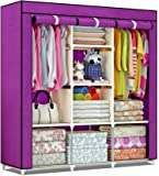 shopper 52.com Fancy & Portable Fabric Collapsible Foldable Clothes Closet Wardrobe Storage Rack Organizer Cabinet…