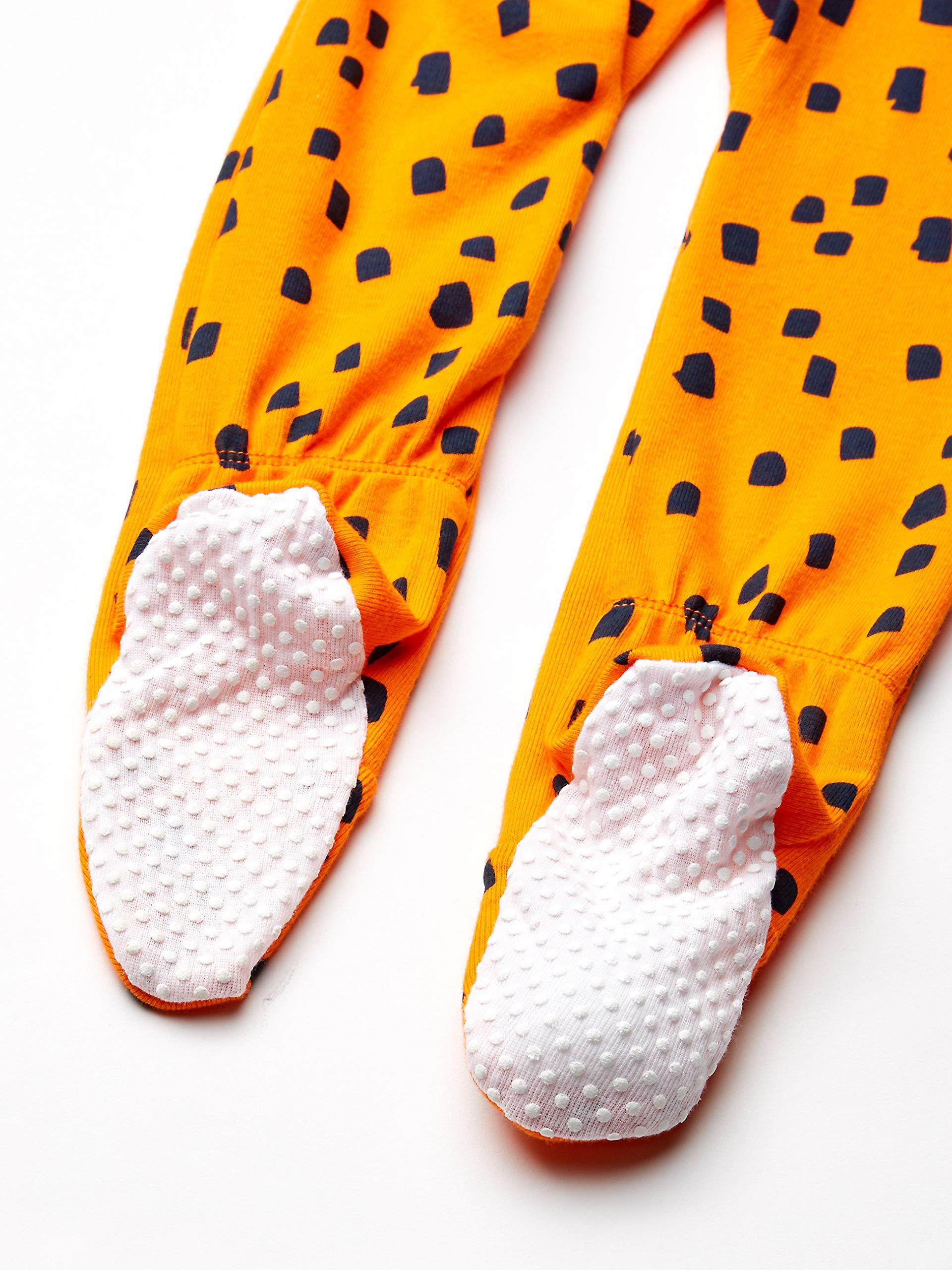 Marca Amazon - Spotted Zebra 3-Pack Snug-fit Cotton Footed Sleeper Pajamas Unisex niños 3