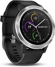 Garmin - Vivoactive 3 - Montre Connectée de Sport avec GPS et Cardio Poignet (Ecran : 1,6 Pouces) - Argent avec Bracelet Noi