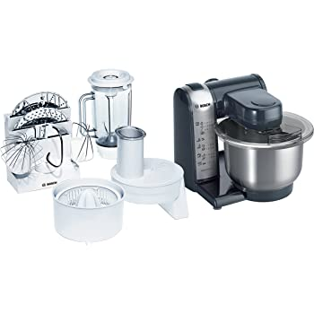 Bosch MUM46A1 Food Mixer, 550W, 3.9 L - Anthracite/Silver