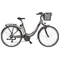 Telefunken E-Bike Damen 28 Zoll Elektrofahrrad - 7-Gang Kettenschaltung, Pedelec Citybike Alu mit Mittelmotor 250W /10…