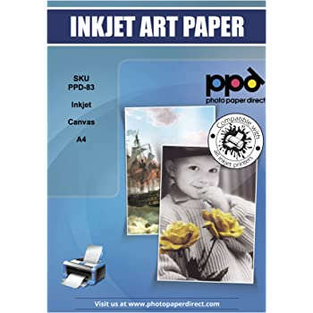 PPD Inkjet Real Art Canvas A4 320gsm x 10 sheets PPD-83-10