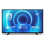 Philips 43PUS7505/12 43-Inch TV (4K UHD TV, P5 Perfect Picture Engine, HDR 10+ Supported, Smart TV, Dolby Vision, Dolby Atmos