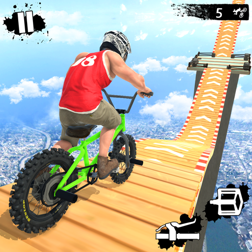 Mega Ramp Crash Stunts BMX Bike Racing Challenge -