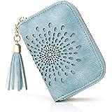 APHISON Kreditkartenetui Damen RFID Schutz Kreditkartenmäppchen Visitenkartenetui für Frauen geldbörse klein PU Leder Reißver