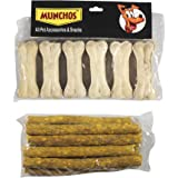 MUNCHOS Dog Bone (3-inch x 6 Pcs) + 120 GMS Chicken Stick