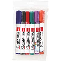 Cello Whitemate Whiteboard Markers - Set of 6 (Multicolored) | School & Office Stationery|Ideal for Work from Home