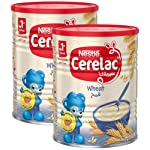 Nestle Cerelac Wheat Infant Cereal Tin, 400gm (Pack of 2)