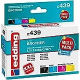 Edding Edd 477 Lc 223bk C M Y 4pack Tintenpatrone Bürobedarf Schreibwaren