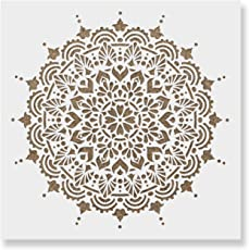 Paradise Mandala Stencil Template for Walls and Crafts - Reusable Stencils for Painting in Small & Large Sizes