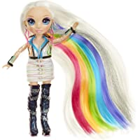 Rainbow High Hair Studio - Bambola Amaya Raine Esclusiva con capelli extra lunghi e colori lavabili 5 in 1