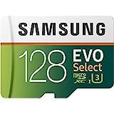 Samsung Memorie MB-ME128HA Evo Select Scheda MicroSD da 128 GB, UHS-I U3, Fino a 100 MB/s, Adattatore SD Incluso
