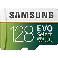 Samsung EVO Select 128 GB microSD 100MB/s, Geschwindigkeit, Full HD & 4K UHD Speicherkarte inkl. SD-Adapter für…