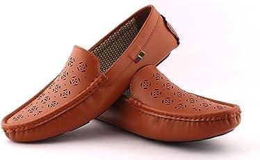 ALESTINO Unisex Aorfeo Cat Drift Loafers - 10 UK/India (44 EU) L07 Tan_10