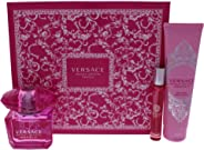 Versace Bright Crystal Absolu 90Ml And 10Ml Eau De Parfum And Perfumed Body Lotion 150Ml Giftset for Women