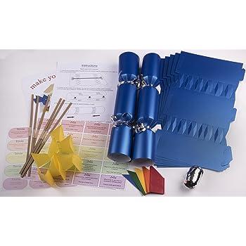 10 x make your own large 14 35cm christmas cracker kits blue 10 x make your own large 14 35cm christmas cracker kits solutioingenieria Gallery