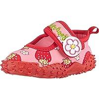 Playshoes Souliers de Sports Aquatiques avec Protection UV Fraises, Chaussures pour Piscine et Plage Fille