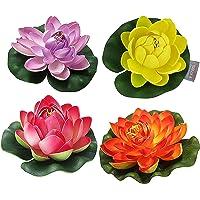 TIED RIBBONS Artificial Flowers (Multicolour, 4 Piece,8-10 Cm)