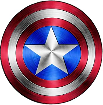 captain america avengers shield sticker 15076 hauteur 70cm amazoncouk kitchen home - Bouclier Captain America
