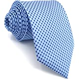 Shlax&Wing Cravatta da uomo Blu Puntini Attività commerciale Seta Suit per uomo
