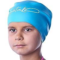 Bonnet de Bain Enfants Cheveux Longs – Bonnet de Natation Filles, Garçons, Adolescents avec Longs Cheveux Bouclés…