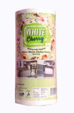 White Cherry Non Woven Kitchen Roll -80 Pulls per Roll (Pack of 3)