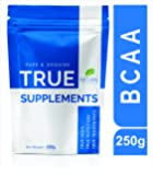 True Supplements Pure BCAA l Pre & Post Workout Supplement for Recovery l 50 Servings l 250g