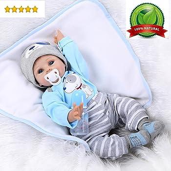 "22/"" Handmade Realistic Reborn Baby Dolls Newborn Sleeping Real Life Baby Doll GM"