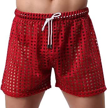iiniim Mens Hollow Front Tie Swimming Board Shorts Swim Shorts Trunks Swimwear Beach Summer Boys