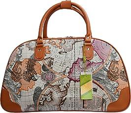 Kezitaska World Travel Bag Women Top Handle Satchel Handbags Shoulder Bag Top Purse Messenger Tote Bag
