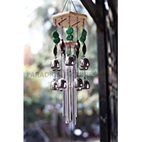 Paradigm Pictures Feng Shui Items for Home Garden Decoration Wind Chimes Bells for Home Positive Energy for Balcony Bedroom (Silver windchimes, 12 Bell & 6 Pipes)